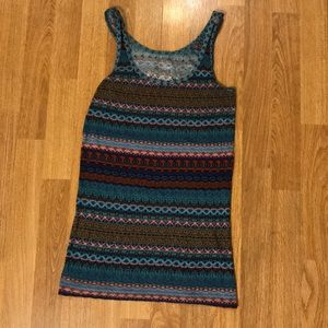Large fitted stretchy tank top
